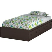 "South Shore Summer Breeze Collection Twin Mates Bed (39""), Chocolate"