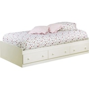 South Shore Summer Breeze Collection Twin Mates Bed, Vanilla Cream
