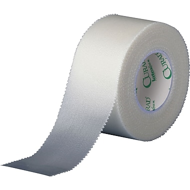 Curad® Cloth Silk Adhesive Tapes, 10 yds L x 3in. W, 48/Case