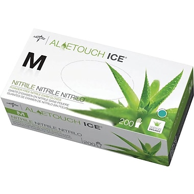 Aloetouch® Ice™ Powder-free Latex-free Nitrile Exam Gloves, Green, XL, 9in. L, 1800/Pack