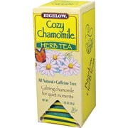 Bigelow® Cozy Chamomile® Herb Tea Bags, Decaffeinated, 28 Tea Bags/Box