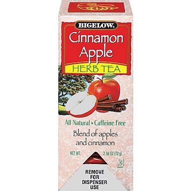 Bigelow® Cinnamon Apple Herb Tea, Decaffeinated, 28 Tea Bags/Box