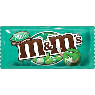 M&M Dark Chocolate Mint, 1.5 oz., 24 Bags/Box