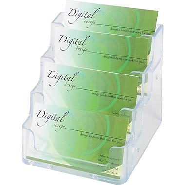 Staples® Plastic 4-Pocket Business Card Holder