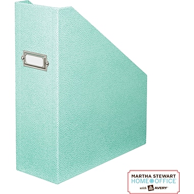 Martha Stewart Home Office™ with Avery™ Stack+Fit Shagreen Magazine File, Blue