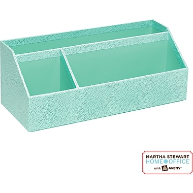 Martha Stewart Home Office™ with Avery™ Stack+Fit™ Shagreen Organizer, Blue