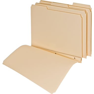 Pendaflex Top Tab File Folders with 3 Fasteners, 1/3 cut, Manila, Letter Size