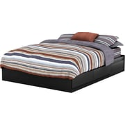 South Shore Vito Collection Queen Mates Bed, Solid Black