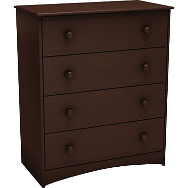 South Shore Vito Collection 4-Drawer Chest, Chocolate