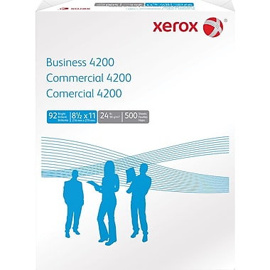 Xerox Business 4200 Copier/Laser Paper, 24 lb., 8 1/2in. x 11in., 500/Ream
