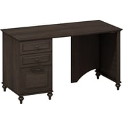 kathy ireland® Office by Bush Furniture Volcano Dusk 51W Desk with File Drawer and Box Drawers , Kona Coast (ALA003KC)