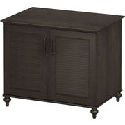 kathy ireland Volcano Dusk by Bush Furniture 2-Door Cabinet with Louvered Accents, Espresso