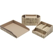 kathy ireland® by Bush® Desktop Organizer, Grass Weave, 3/pack