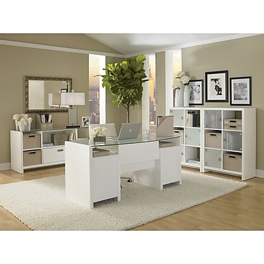kathy ireland by Bush New York Skyline Office Suite 1, Plumeria White