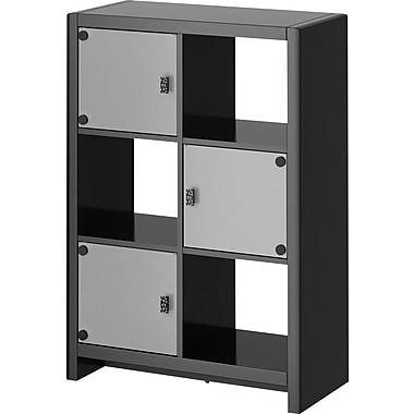 kathy ireland® Office by Bush Furniture 6 Cube Bookcase, Modern Mocha (KI10105-03)