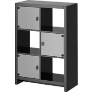 kathy ireland New York Skyline by Bush Furniture 6-Cube Bookcase, Modern Mocha