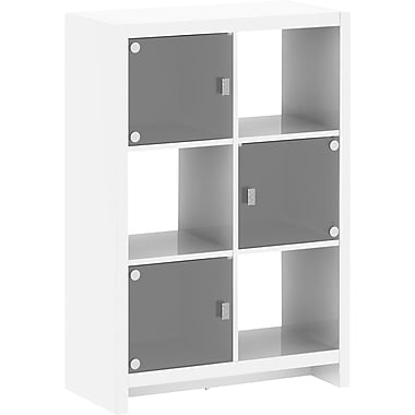 kathy ireland by Bush® New York Skyline 6 Cube Storage, Plumeria White