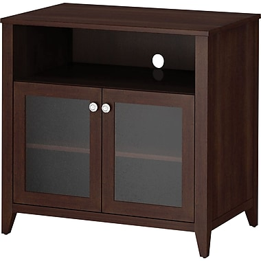 kathy ireland by Bush Grand Expressions Tall TV Stand, Warm Molasses