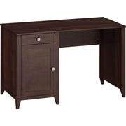 kathy ireland by Bush Grand Expressions 48in. Single Pedestal Desk, Warm Molasses
