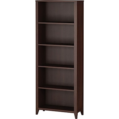 kathy ireland by Bush Grand Expressions 5-shelf Bookcase, Warm Molasses