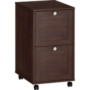 kathy ireland® by Bush® Grand Expressions 2 Drawer Mobile File, Warm Molasses