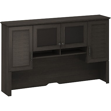 kathy ireland Volcano Dusk by Bush Furniture Hutch with 4 Storage Cabinets, Espresso