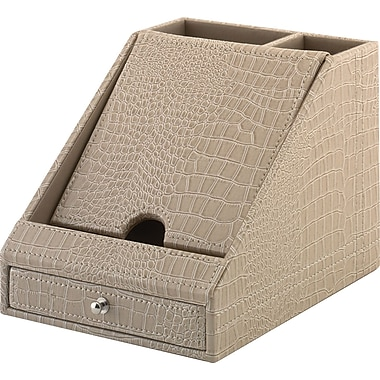 kathy ireland by Bush Charging Station, Croc-Beige Leather