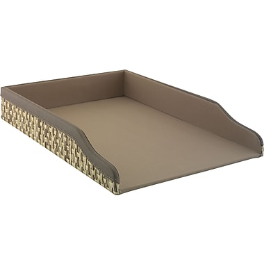 kathy ireland by Bush Letter Tray, Grass Weave