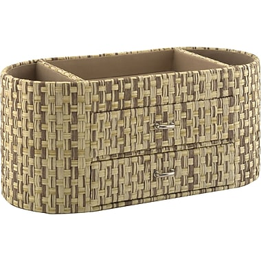 kathy ireland by Bush Desktop Organizer, Grass Weave