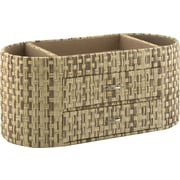 kathy ireland® by Bush® Desktop Organizer, Grass Weave