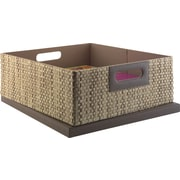kathy ireland® by Bush® Media Bin, Grass Weave