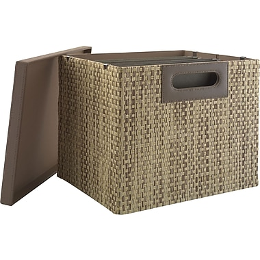 kathy ireland by Bush Large Bin/File, Grass Weave
