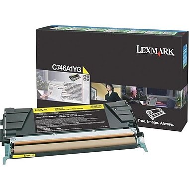 Lexmark C746 Yellow Return Program Toner Cartridge C746A1YG