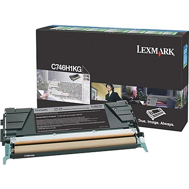 Lexmark Black Toner Cartridge (C746H1KG), High Yield, Return Program