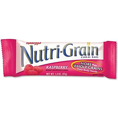 Kellogg's Raspberry Flavored Nutri-Grain Bars, 1.3 oz. Bars, 16 Bars/Box