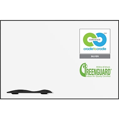 Best-Rite Ultra Trim Magnetic Dry-Erase Board with Black Frame, 5' X 3'