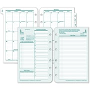 """2016 Franklin Covey® Original 2 Pages/Day Daily Planning Pages, 4 1/4""""W x 6 3/4""""H, (3541416)"""