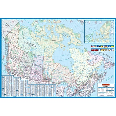 MapArt - Carte du Canada, 33 po x 48 po