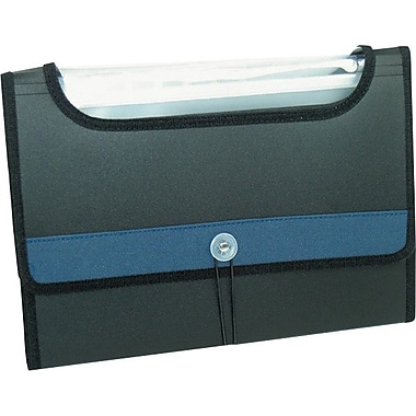 Winnable 13-Pocket Window File, Legal-size, Black