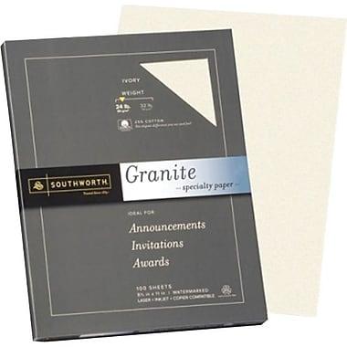 Southworth® 25% Cotton Granite Paper, 24 lb, 8 1/2