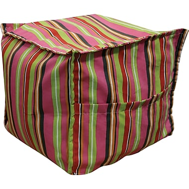 Elite Sit-E-Block Fabric Bean Bag Combination Stool/Ottoman, Albery Marzapan Print
