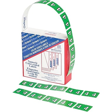 Oxford® Datafile Compatible Numeric Label,