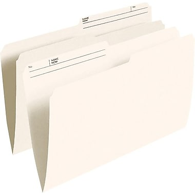 Pendaflex® Recycled File Folder, 1/2-Cut, Legal Size, Ivory