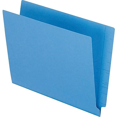 Pendaflex® Reinforced Coloured End-Tab File Folders, Letter Size, Blue