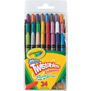 Crayola® Twistables® Mini Crayons, 24 Assorted, 24/Pack (529724)