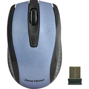 Gear Head 2.4 GHz Wireless Optical Nano Mouse, Blue