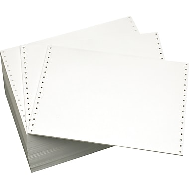 Domtar 120028 Blank Computer Paper, White, 8 1/2