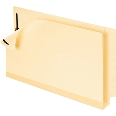 Pendaflex® Double Stuff Laminated End-Tab Folders, Legal, Full Tab