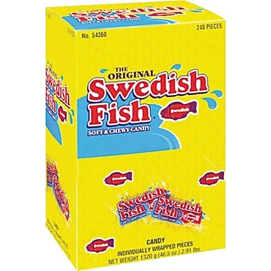 Swedish Fish® Grab-and-Go, Reception Box, 240 Pieces/Box