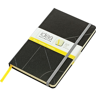 Tops® Idea Collective™ Large Hardbound Journal, Black Embossed Cover, 240 pages,  8-1/4in. x 5in.